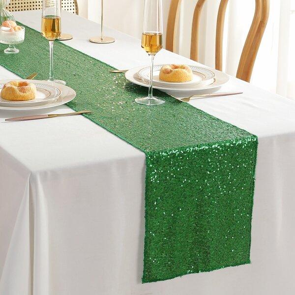 Sequin Table Runner, Green