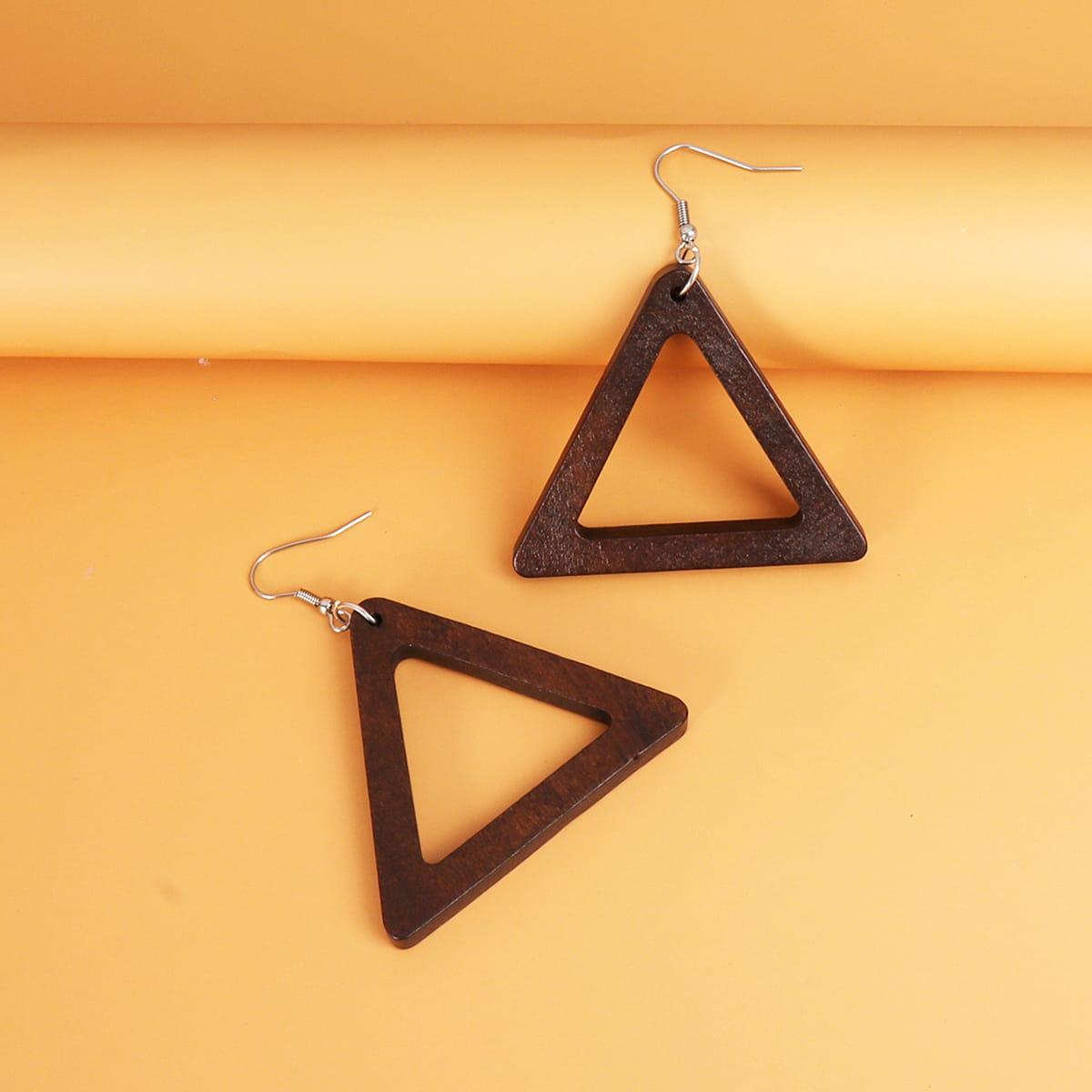 Pendants d'oreilles triangulaire