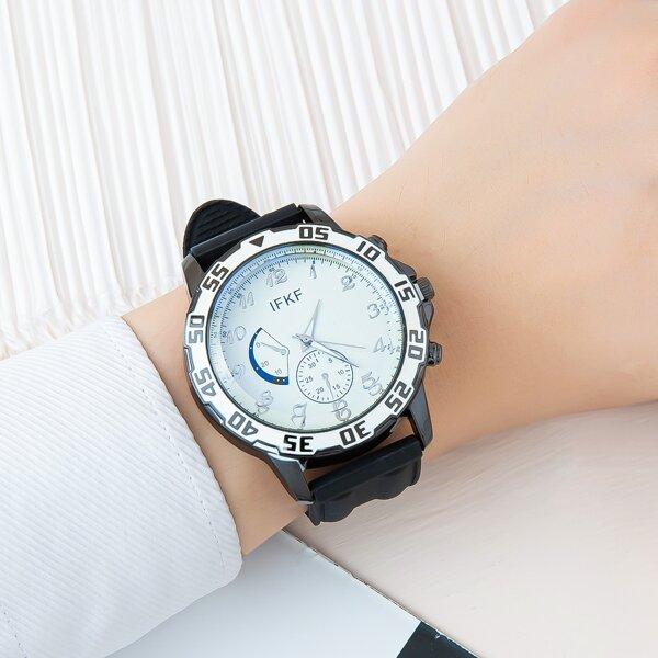 Men Silicone Strap Quartz Watch