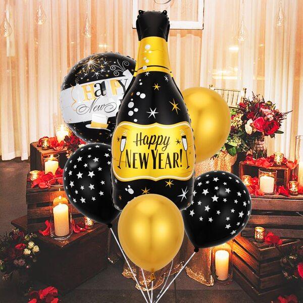 6pcs Party Decorative Balloon Set, Multicolor