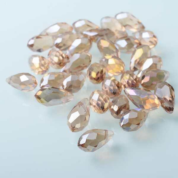 30pcs DIY Bead Jewelry Accessory, Apricot