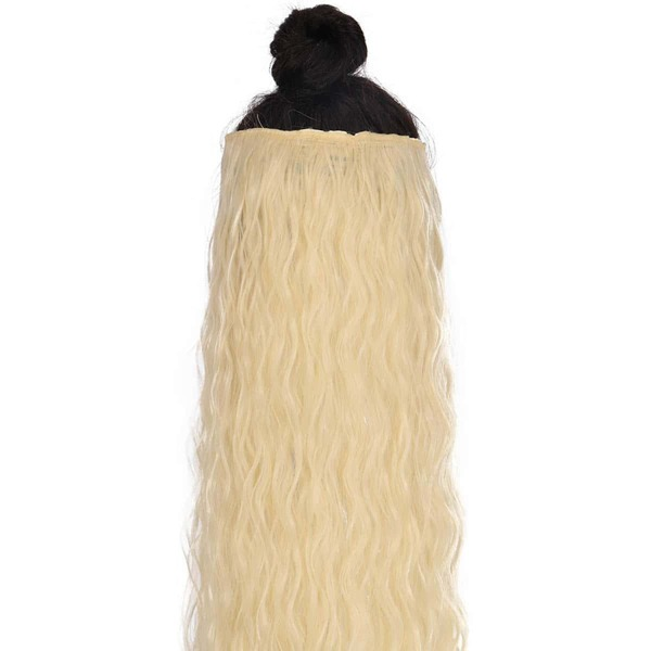 Long Curly Synthetic Hair Extension, Beige