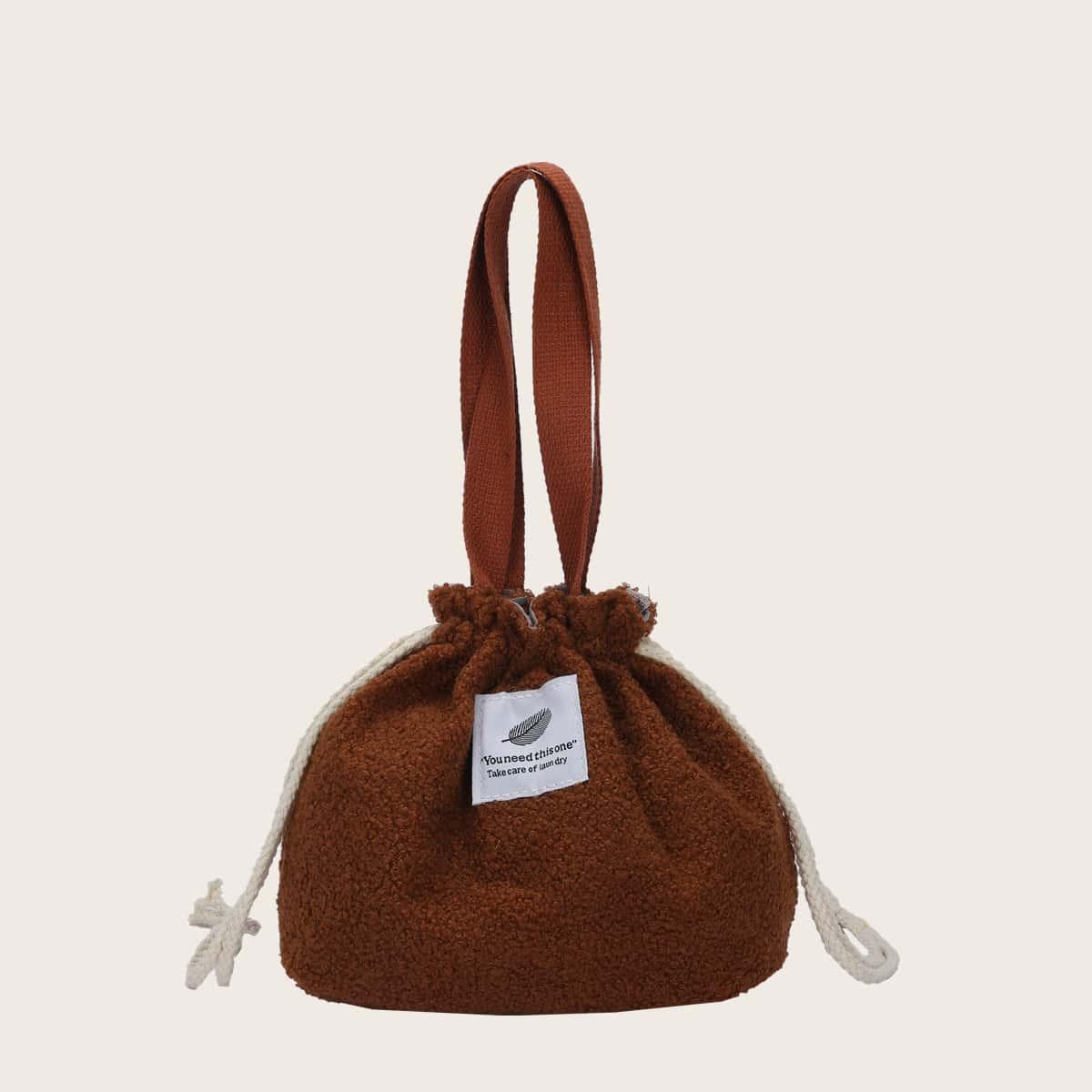 Girls Drawstring Design Satchel Bag