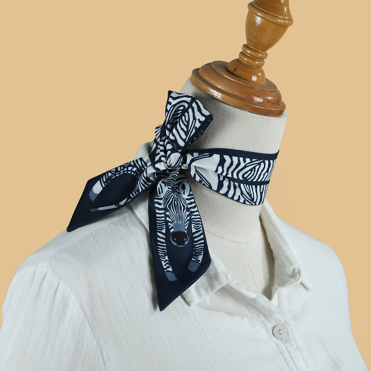 Graphic Print Twilly Scarf