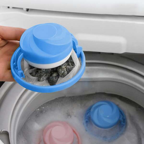 3pcs Random Laundry Filter Ball, Multicolor
