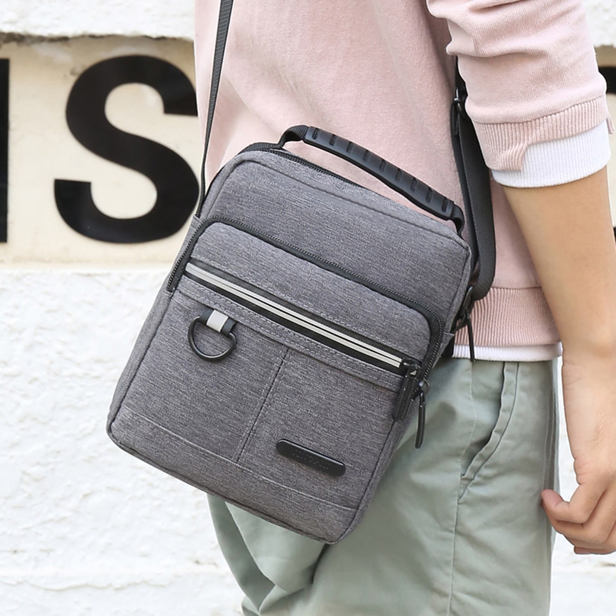 Men Minimalist Oxford Square Bag