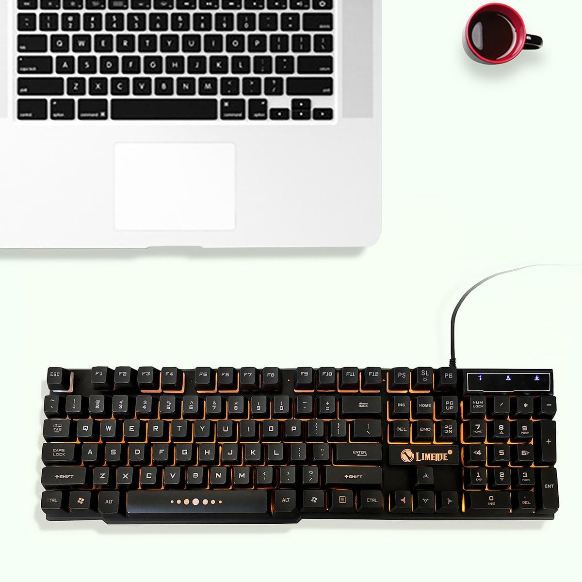 Светящаяся проводная игровая клавиатура