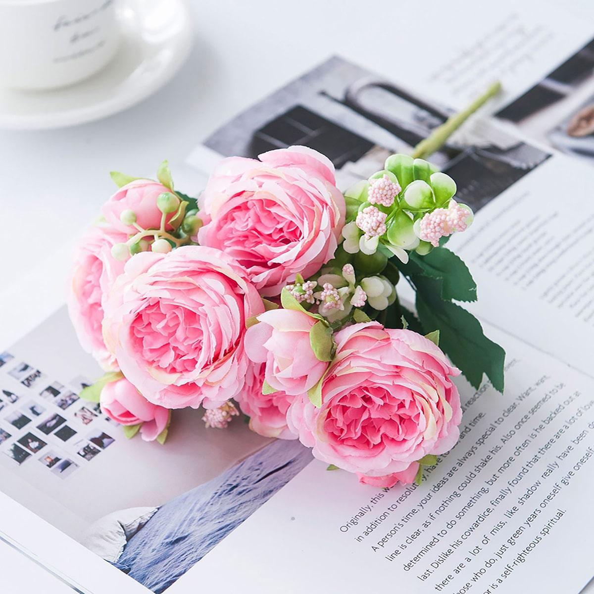1шт Искусственный цветок букет