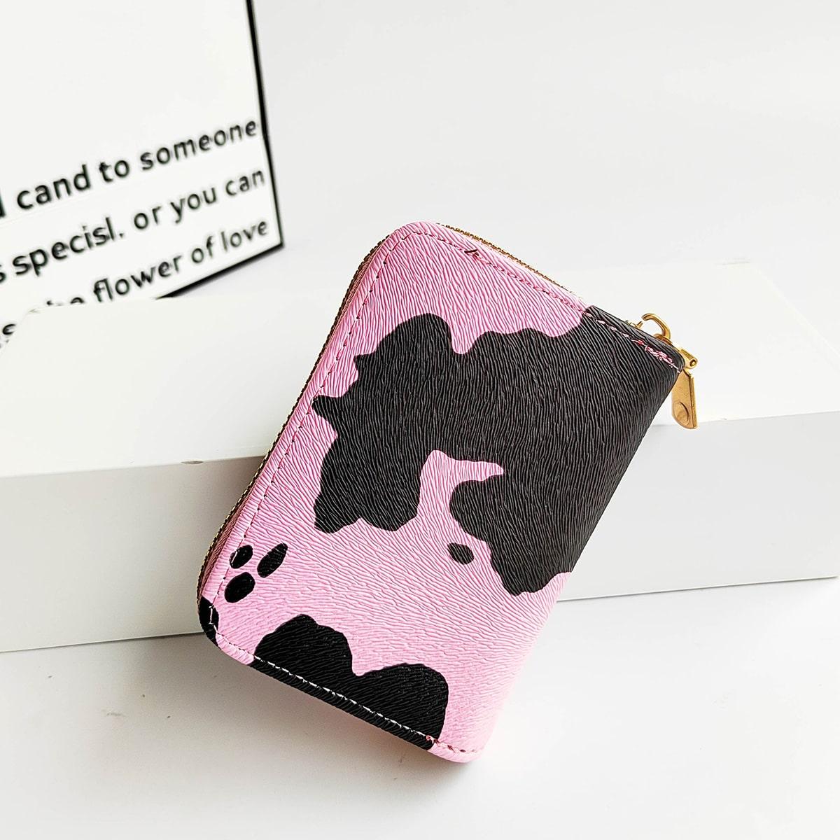 Маленький кошелек с коровьим принтом