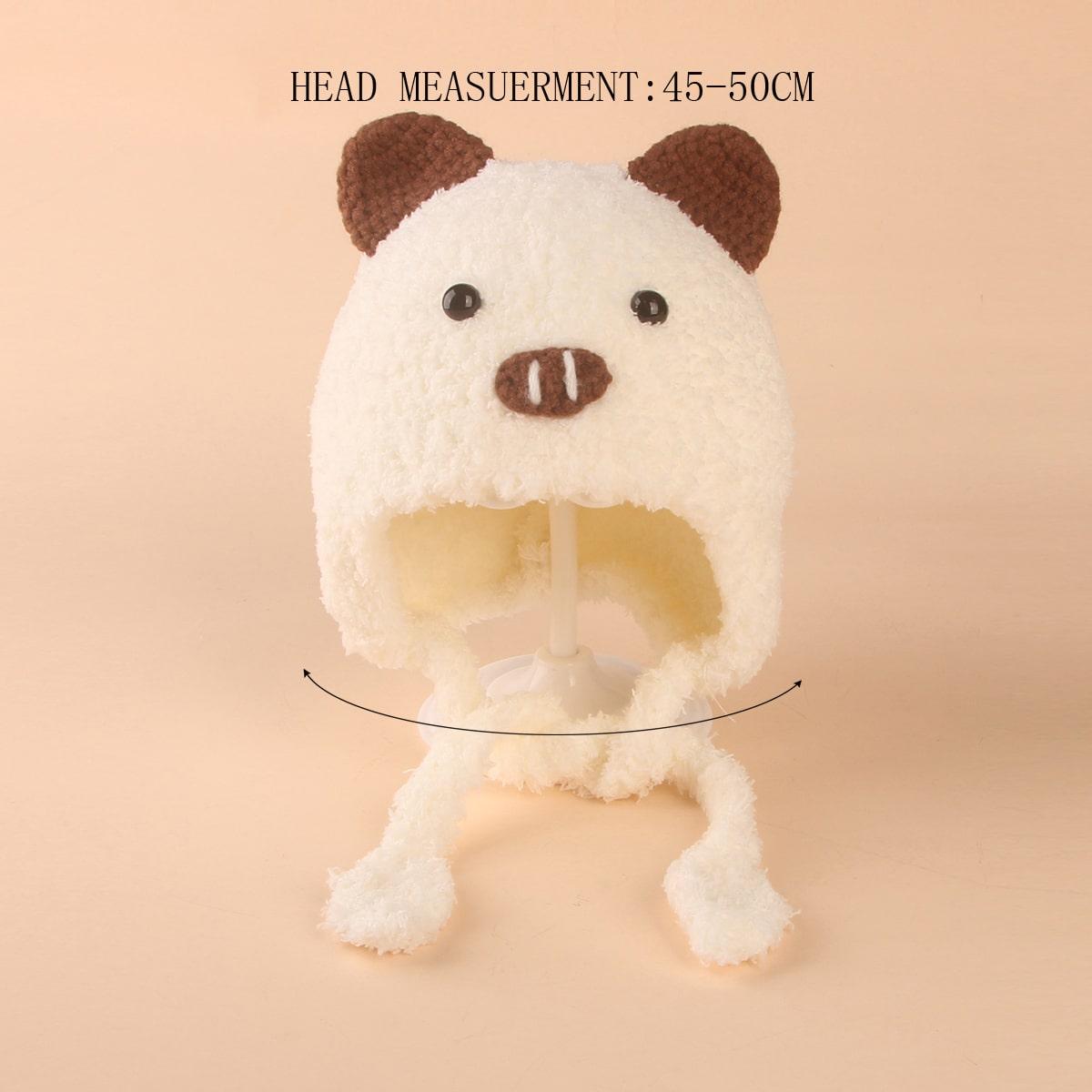Baby Cartoon Design Fuzzy Hat