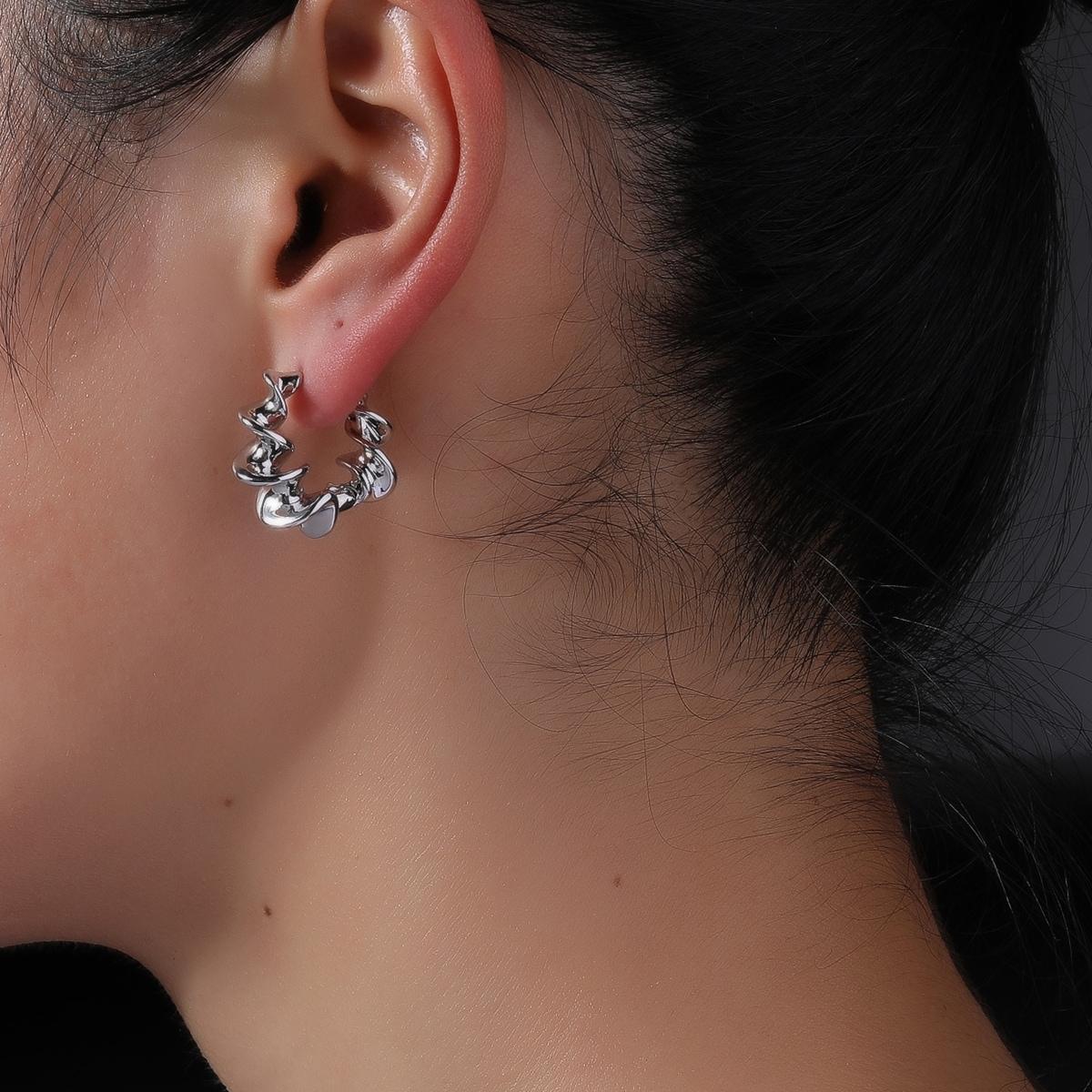 Boucles d'oreilles irrégulier