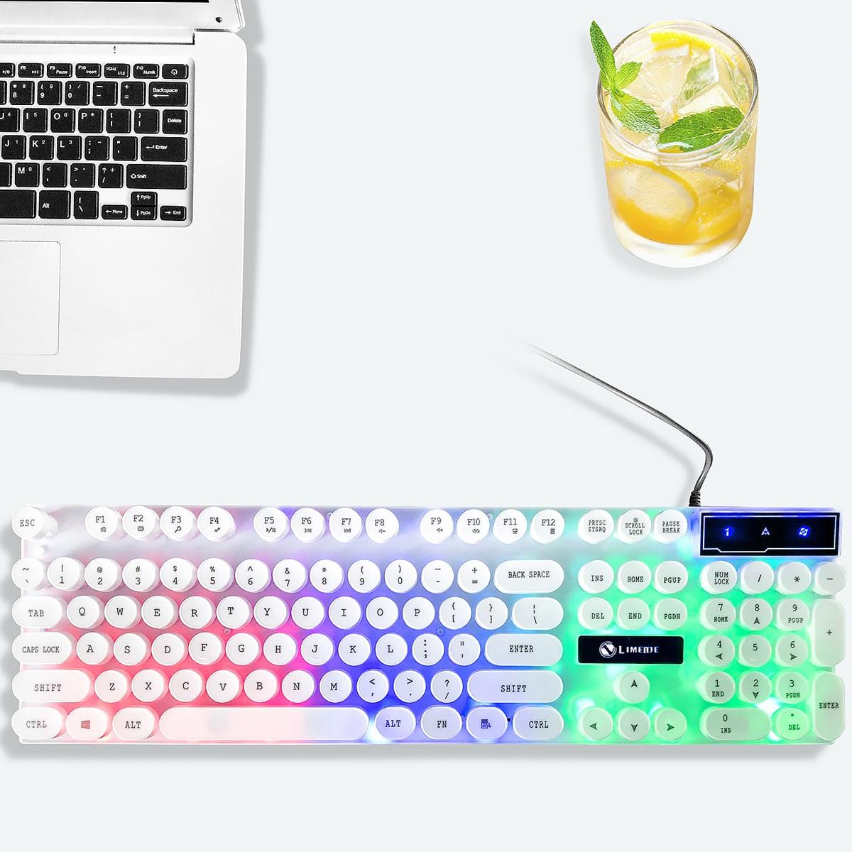 Проводная светящаяся игровая клавиатура