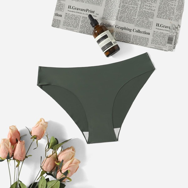 Breathable Softness Lightweight Sports Brief, Army green