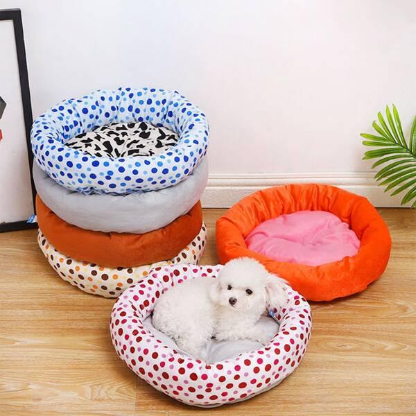 1pc Random Color Pet Bed, Multicolor