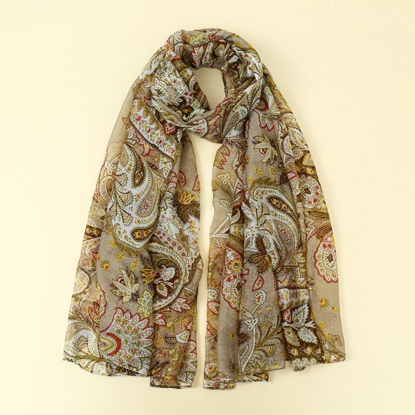 Paisley Pattern Scarf, Multicolor
