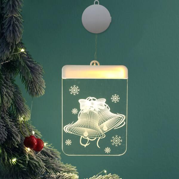 1pc Christmas Bell Light, Yellow