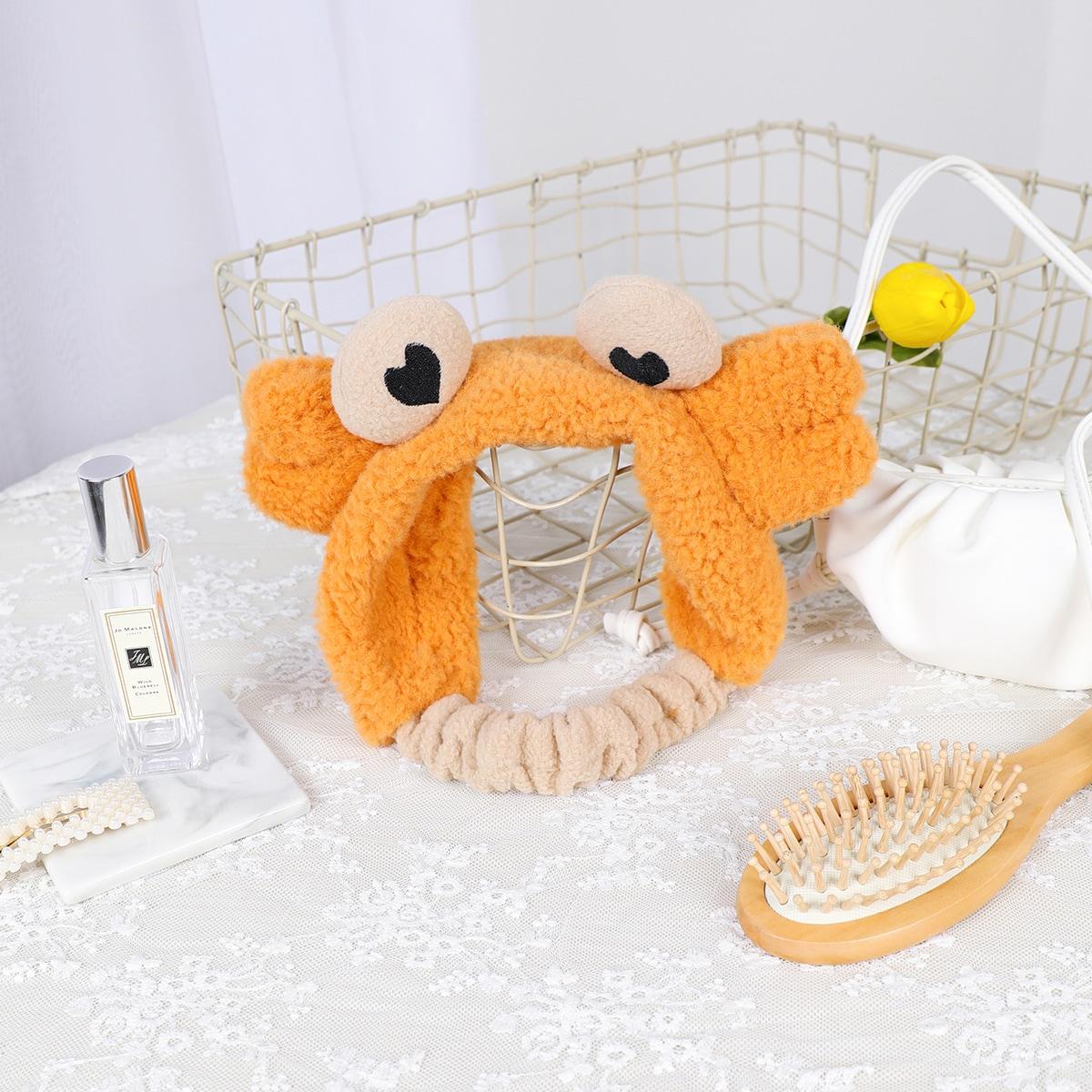 1шт Повязка на голову для ванны в форме краба