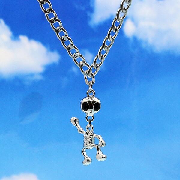 Skeleton Pendant Necklace, Silver