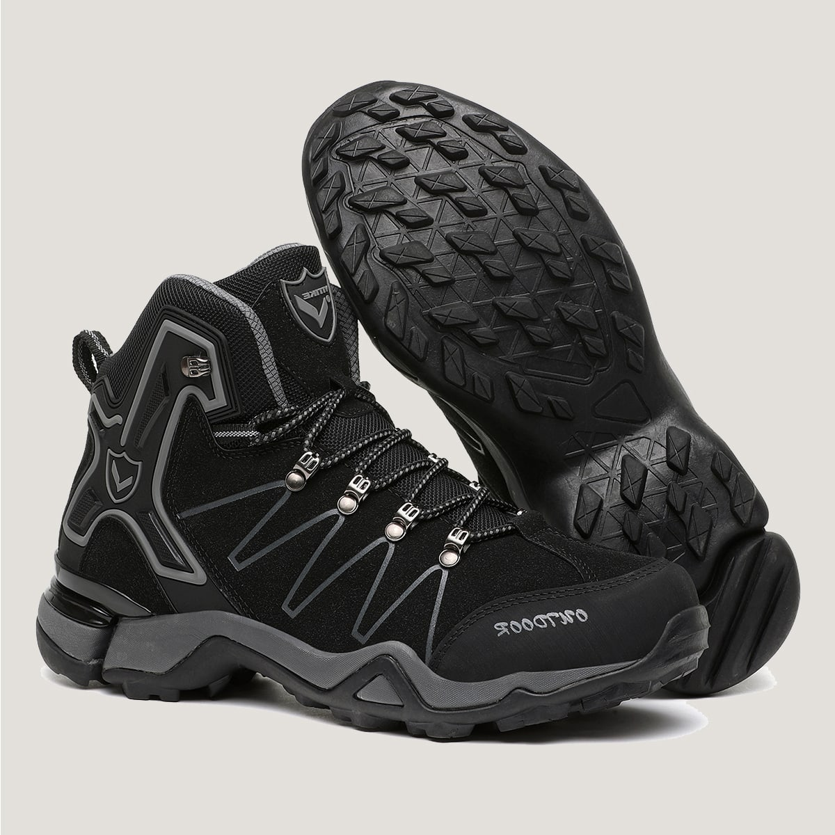 Men Letter Graphic Lace Up Front Hiking Boots