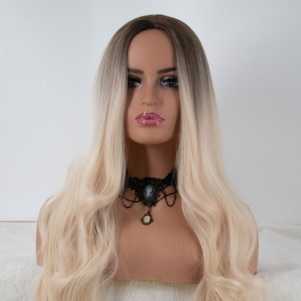 Ombre Long Curly Synthetic Wig