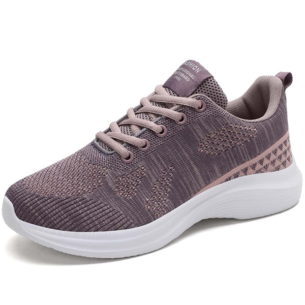 Minimalist Lace-up Front Hollow Out Sneakers, Purple