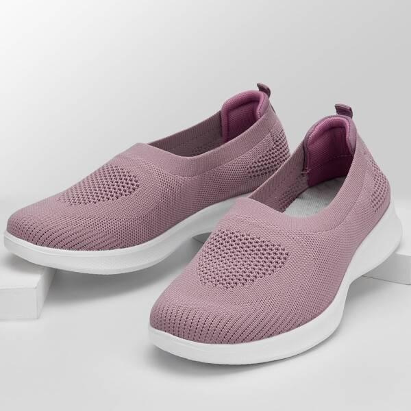 Minimalist Slip On Shoes, Pink