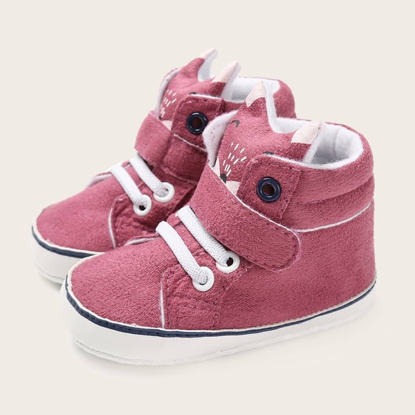 Baby Minimalist High Top Skate Shoes, Hot pink