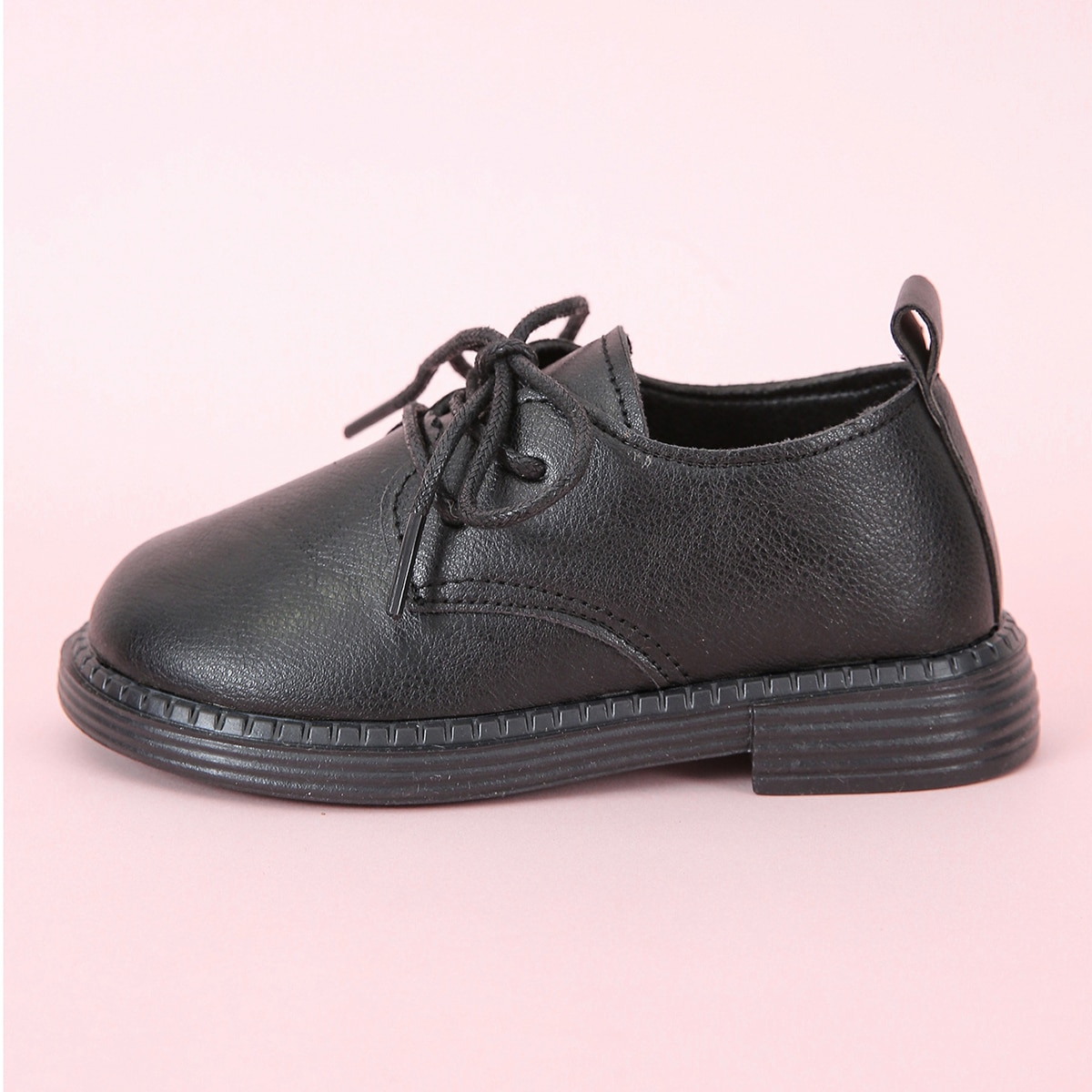 Boys Minimalist Lace Up Front Oxfords