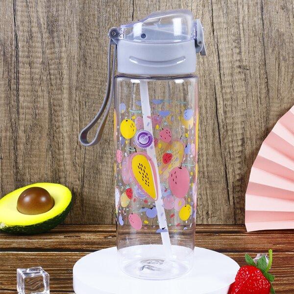 1pc Fruit Print Water Bottle, Multicolor