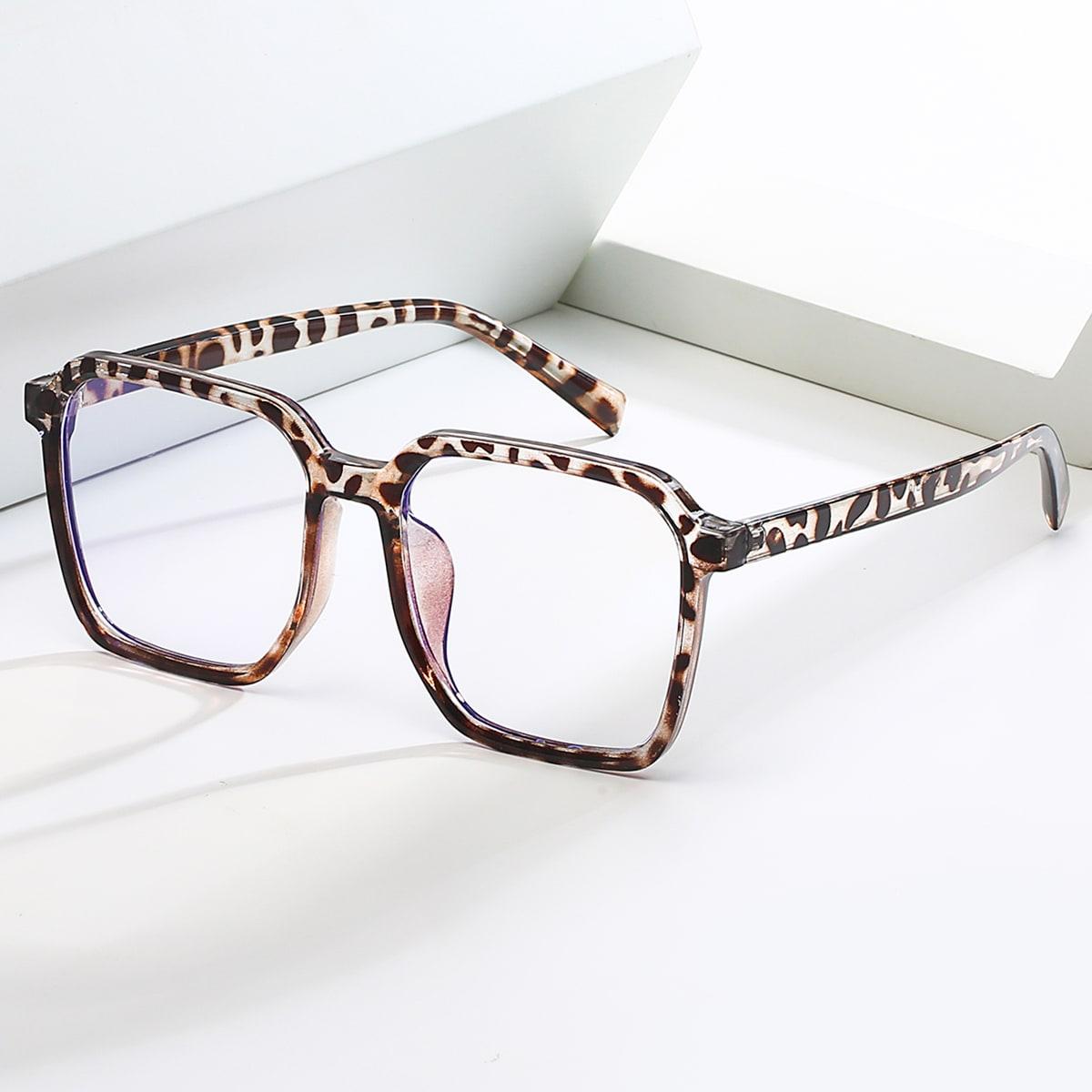 Очки с защитой от синего света с леопардовым узором