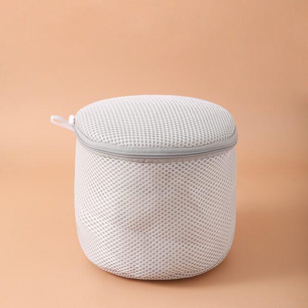 1pc Underwear Laundry Bag, Grey