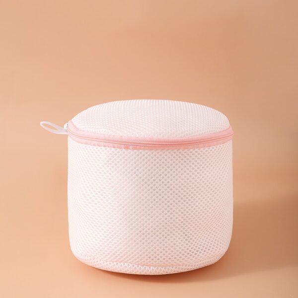 1pc Underwear Laundry Bag, Pink