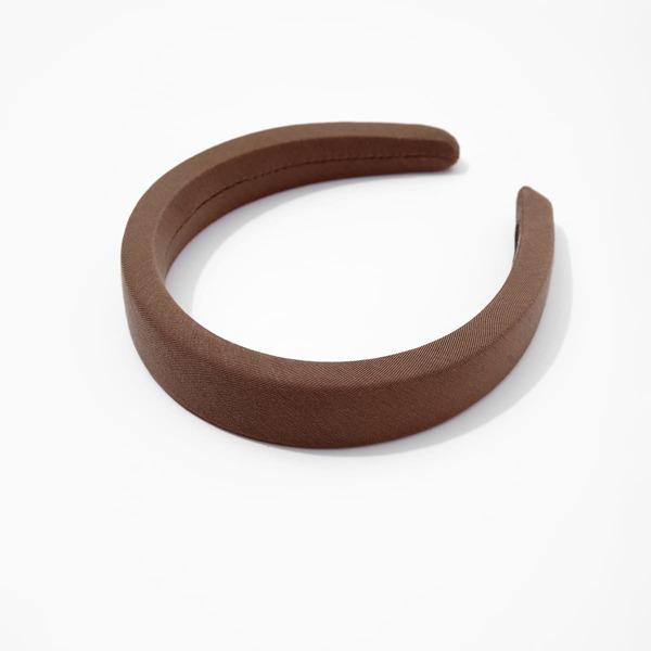 Minimalist Wide Headband, Brown