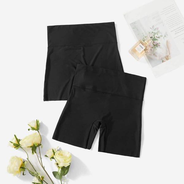 Plain Sheer Shapewear Panty, Black