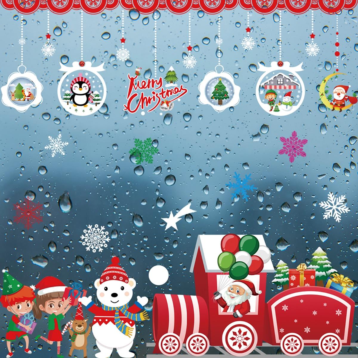Наклейка на стену с рождественским принтом