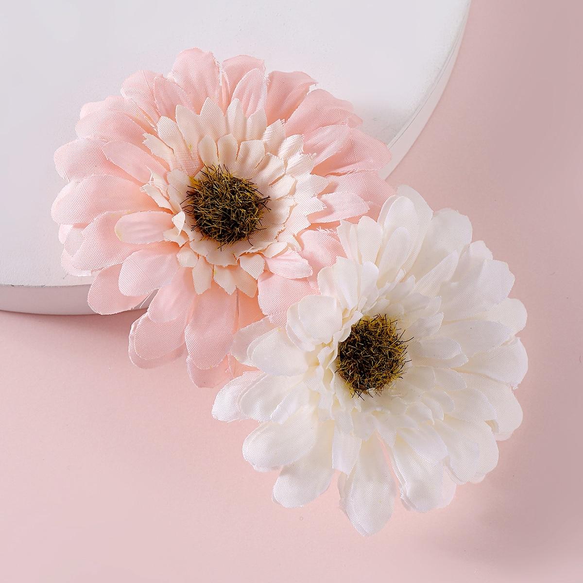 Toddler Girls Flower Decor Hair Clip