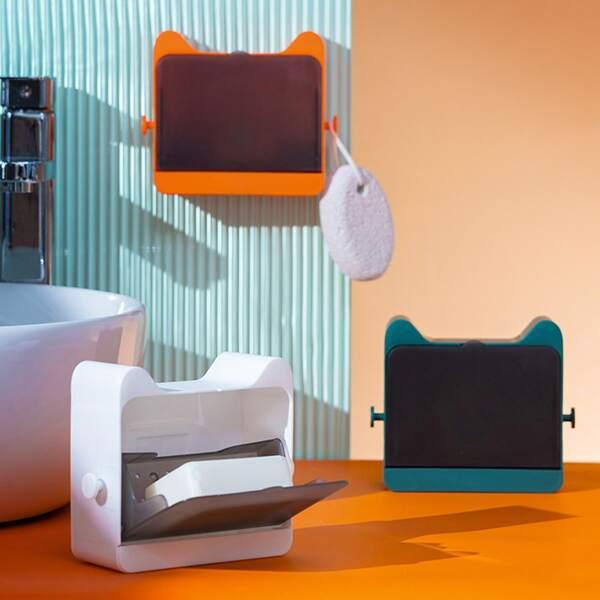 1pc Ear Design Random Color Soap Box, Multicolor