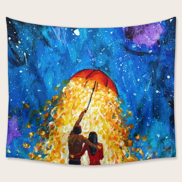 Figure Graphic Tapestry, Multicolor