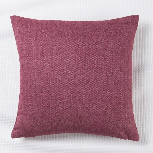 Plain Cushion Cover Without Filler, Burgundy