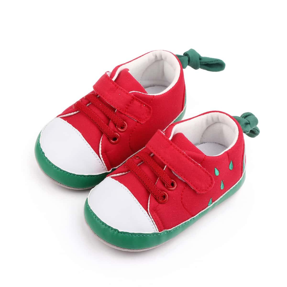 Bebé Zapatillas deportivas sandía con diseño con tira velcro