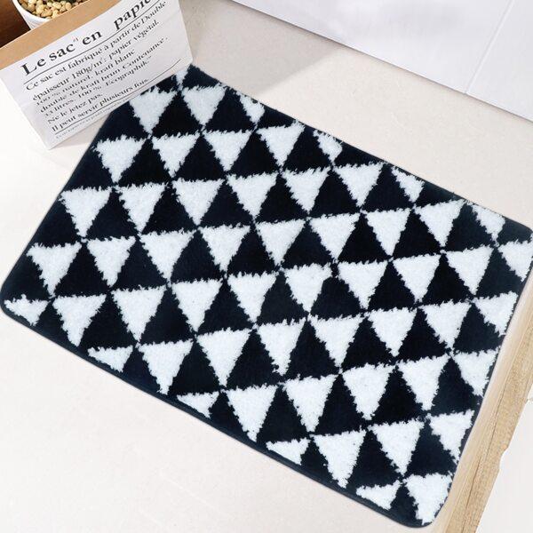 1pc Geometric Pattern Door Mat, Multicolor