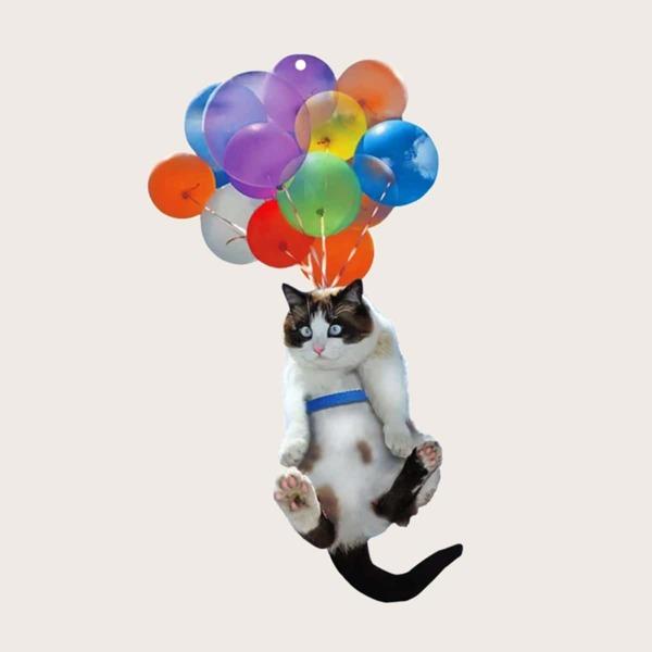 1pc Car Cat Design Hanging Ornament, Multicolor