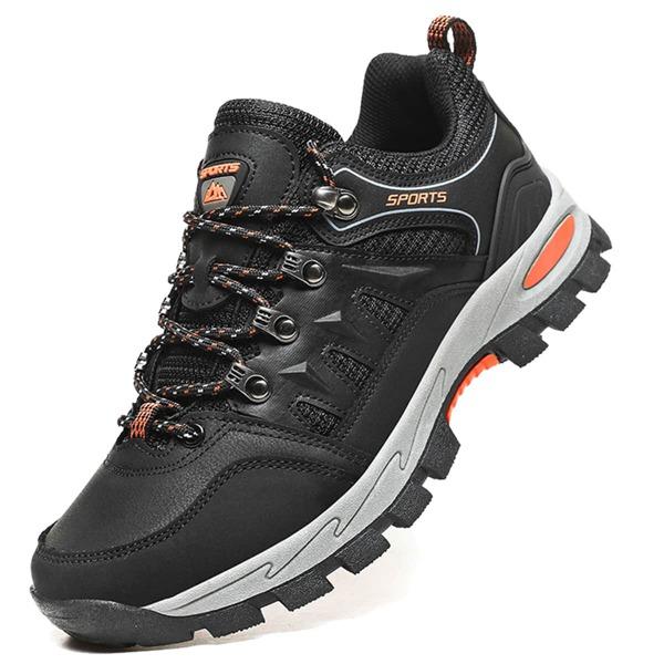 Men Colorblock Letter Detail Lace-up Front Sneakers, Black