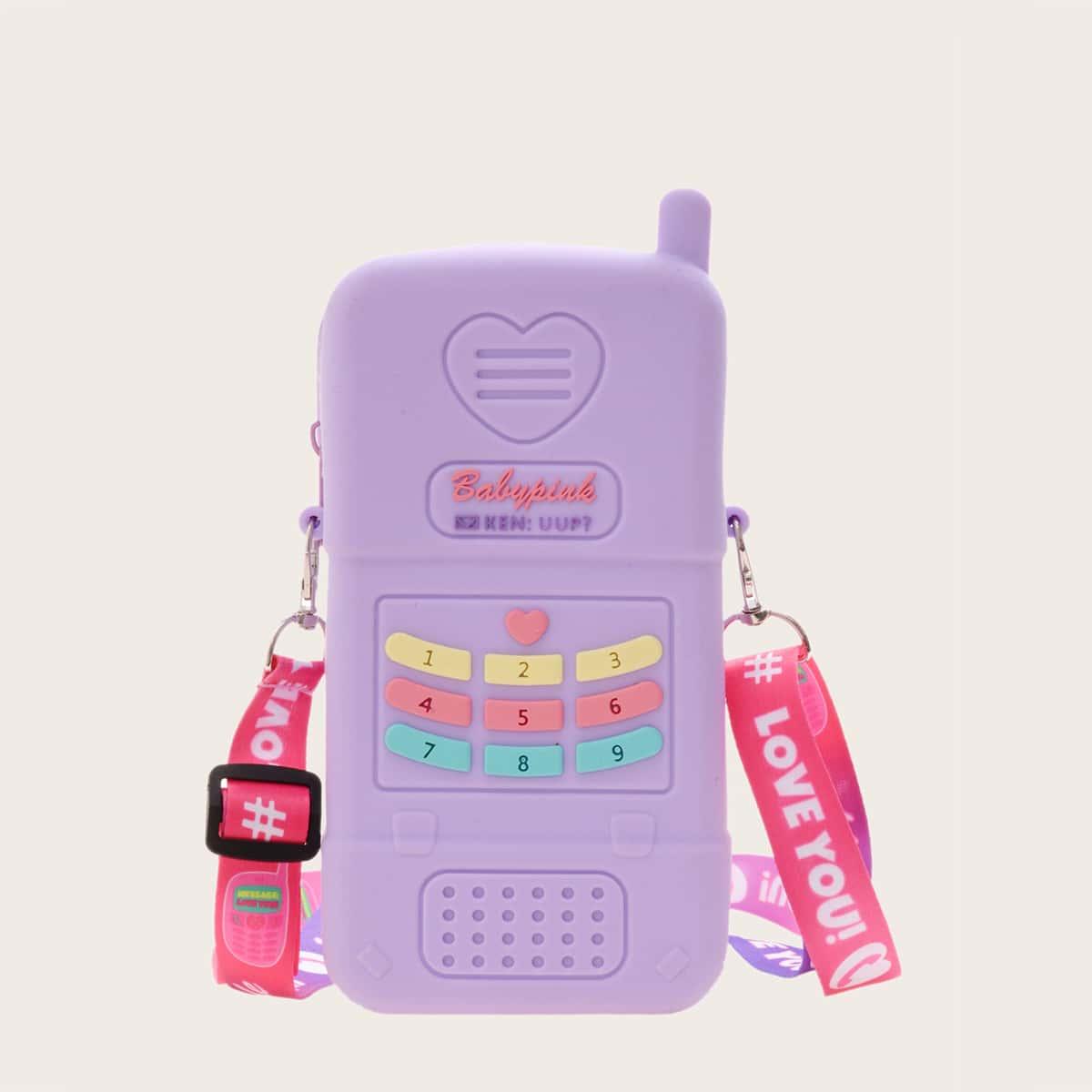 Сумка через плечо пупырки в форме телефона для девочек