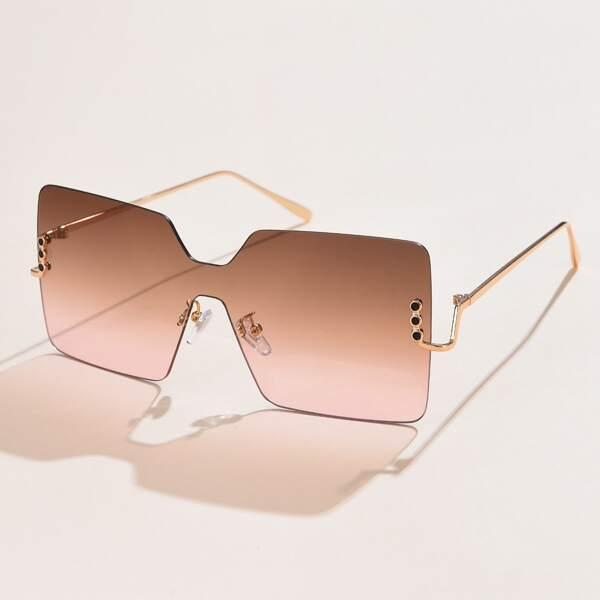 Geometric Rimless Sunglasses