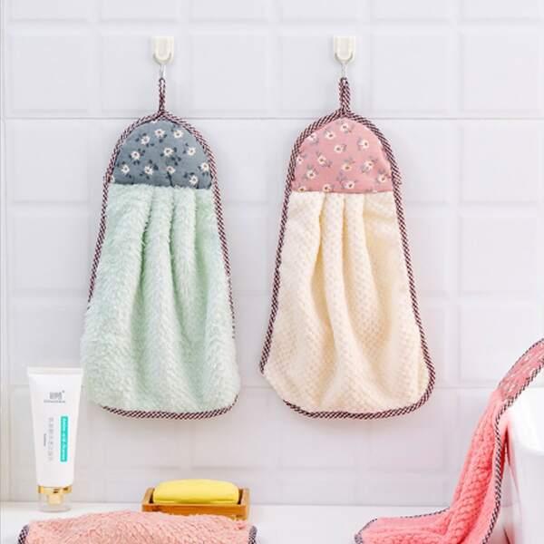 1pc Flower Print Random Hand Towel, Multicolor
