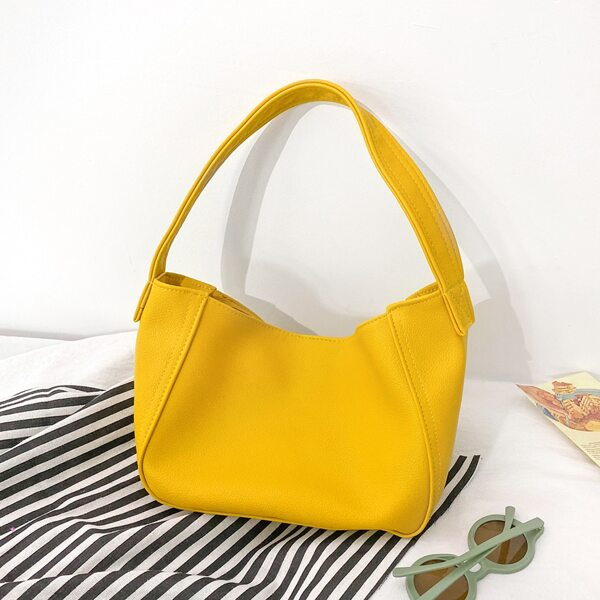 Girls Minimalist Square Bag, Yellow