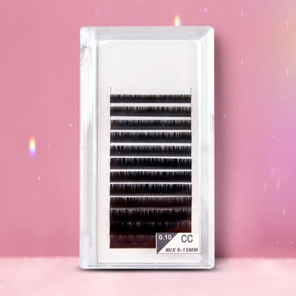 1box Volumized Individual False Eyelashes, Black