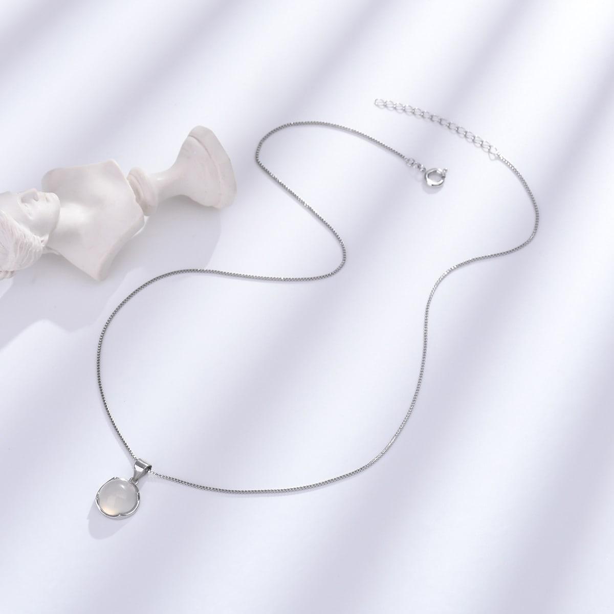 Ожерелье 18K Позолоченный с круглым декором
