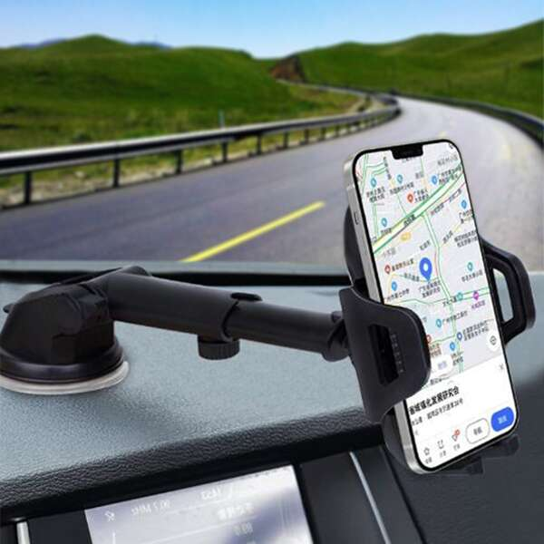 Suction Cup Car Phone Holder, Black